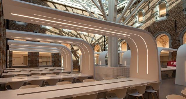 """Restauration bâtiments """"Parc 23"""" en Mumons (Musée Chapelle des Visitandines), bibliothèque, bureaux, salles de réunion"""
