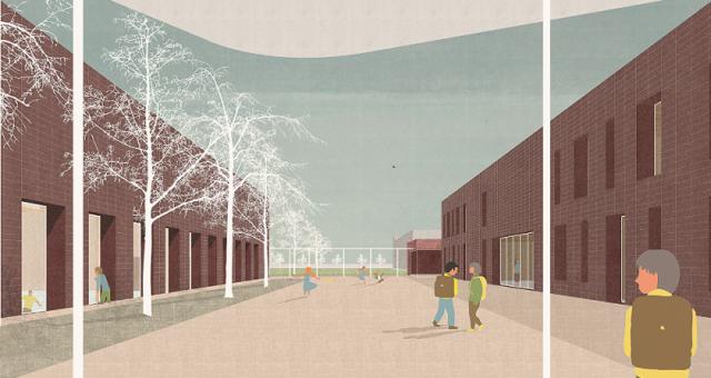 Athénée Royal Les Marlaires: nouvelle section primaire et reconstruction d'une salle de sport – en exécution