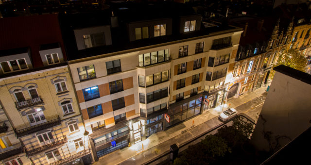 Appartementen + commerciële ruimte Delhaize
