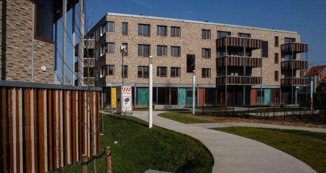 59 passiefwoningen, kinderopvang en parking